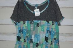 T-shirt w domki rozmiar 44/46