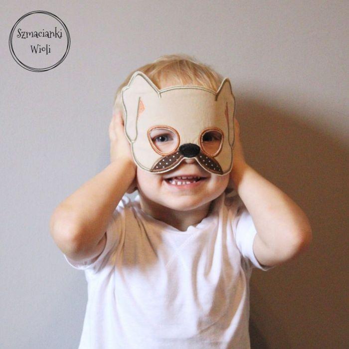 Maska dla dzieci i dorosłych - PIES/SZCZENIAK - Maska pies/szczeniaczek 2
