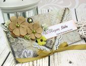 Kartka na rocznicę ślubu- oliwkowy zakątek