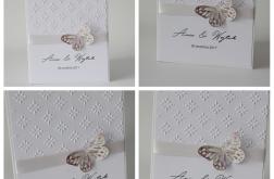 Zaproszenia ślubne z motylkiem