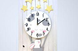 Zegar dla dziecka z króliczkiem