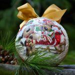 Bombka ze zdjęciem -prosto z serca - tył bombki-motyw świąteczny