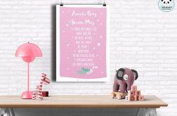 plakat Aniele Boży- 30x40 jasny róż