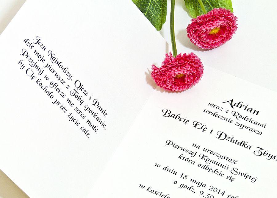 Zaproszenia na Pierwszą Komunię Ornament