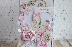 Kartka na narodziny Chrzest Baby Boom1 GOTOWA