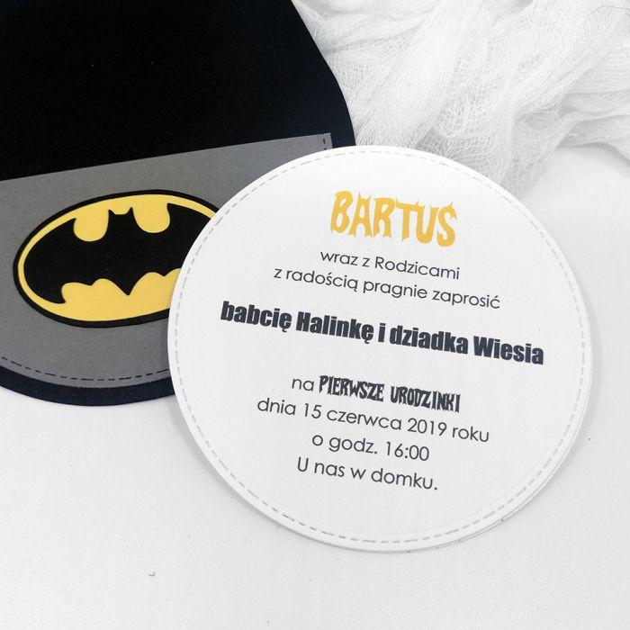 Zaproszenie na roczek Batman ZUD 012 - Zaproszenie na roczek Batman (4)