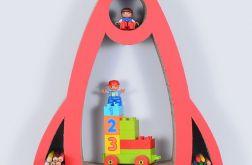 Półka na książki RAKIETA | czerwony