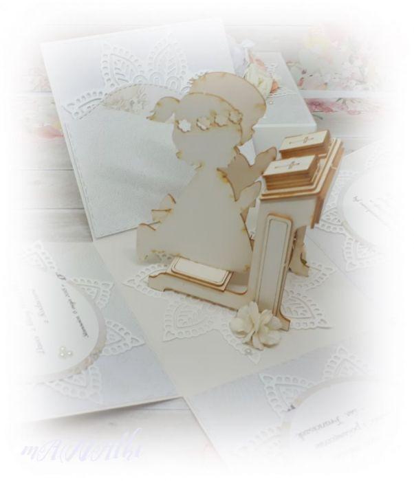 Pamiątka, pudełko Pierwsza Komunia Święta -