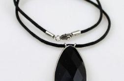 Czarny kryształ - wisior