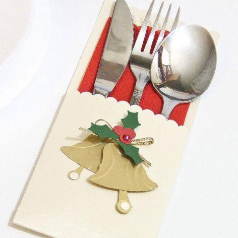 Etui na sztućce Boże Narodzenie - dzwony