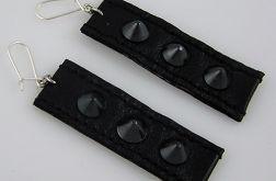 czarne ćwieki - kolczyki