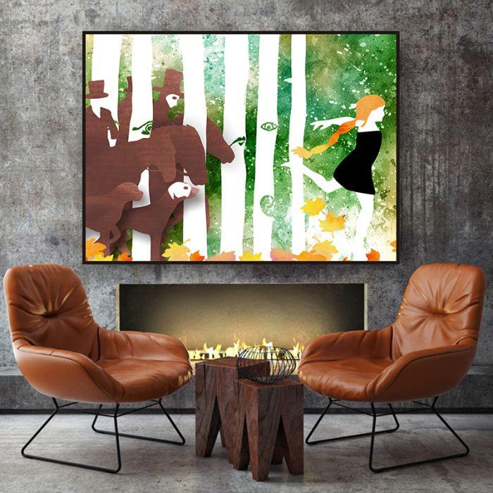 Jesienny Las... art print a4