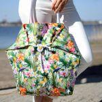 hawajska torba na plażę, na zakupy - torba z nadrukiem