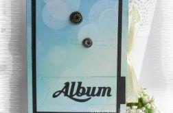 Album harmonijkowy zielono-niebieski