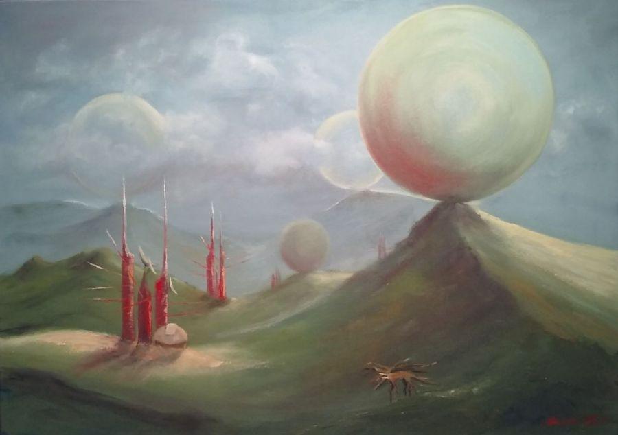 Rossinante - olej na płótnie. - obraz fantasy