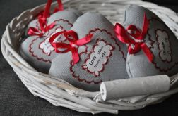 Serduszko lniane Love Liebe Miłość