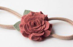 Opaska do włosów kwiatuszek pretty in pink