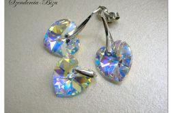 Komplet Swarovski Heart 14 mm Crystal AB