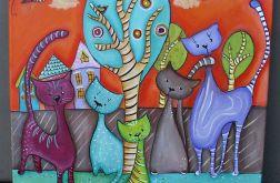 Koty i drzewo