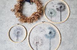 Komplet obrazków: haft na tiulu