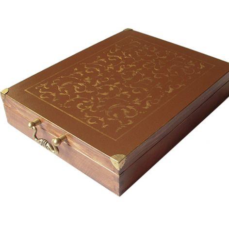 ZŁOTE ARABESKI - pudełko na sztućce