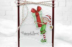 kartka świąteczna z elfem