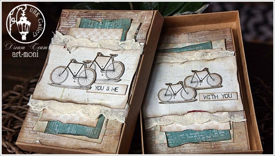 Kartka rowerowelove -