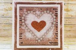 Rustykalna kartka ślubna z sercem