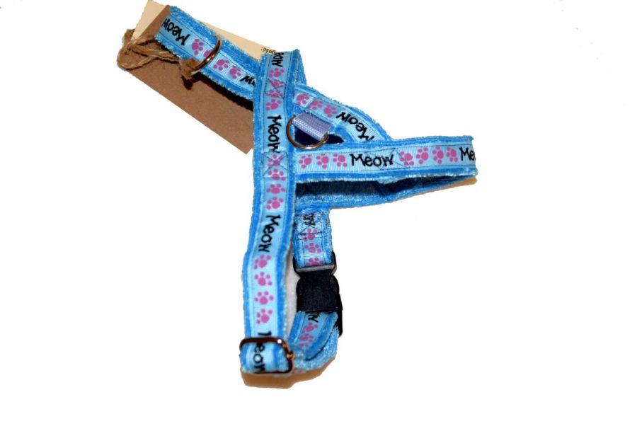 Szelki dla psa błękitne MEOW