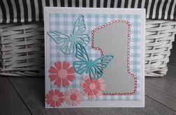 Kartka na Roczek urodziny motylki