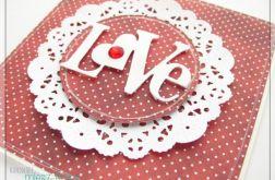 LOVE - czerwona kartka na WALENTYNKI