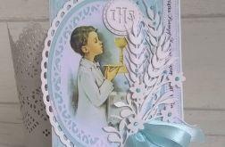 Kartka na komunię dla chłopca