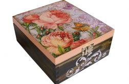 Herbaciane róże szkatułka z przegrodami