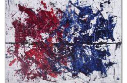 Obraz abstrakcja akryl Crimson Monaster Blue