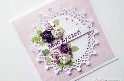 Kartka MOC ŻYCZEŃ z różami