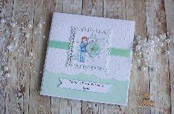 Kartka komunijna dla chłopca Mint GOTOWA
