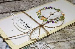Kartka ślubna w bieli i ecru
