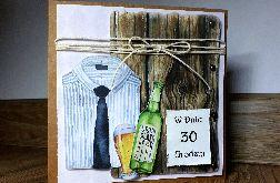 Meska kartka na 30tkę 30 urodziny dla mężczyzny