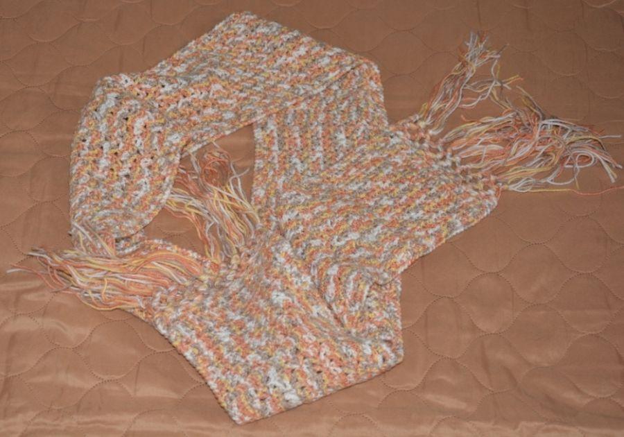 Szydełkowy długi szalik