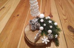 Dekoracja ozdoba na plastrze drzewa Zima Świę