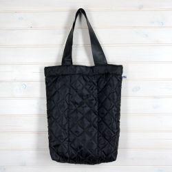 Pikowana czarna torba