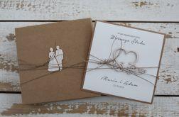 Oryginalna kartka ślubna i pudełko 4a3