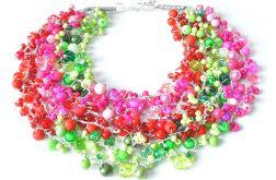 3904 kolorowy naszyjnik kolia korale