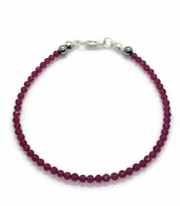 Subtelna bransoletka z naturalnych rubinów - Subtelna bransoletka z rubinów