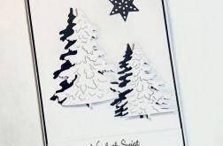 Kartka Bożonarodzeniowa darkblueChristmas