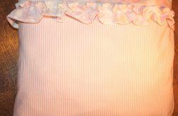 Poduszka- Prowansja-vintage,pudrowy róż