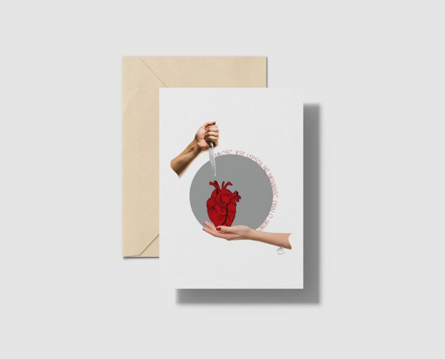 Kartka A5 Miłość jest - kartka okolicznościowa