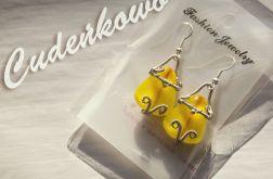 Żółte - ręcznie wykonany szklany kaboszon