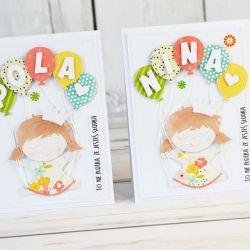 Słodka i kolorowa kartka dla dziewczynki