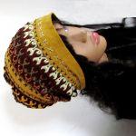 czapka beanie -sztuka hand made - folk